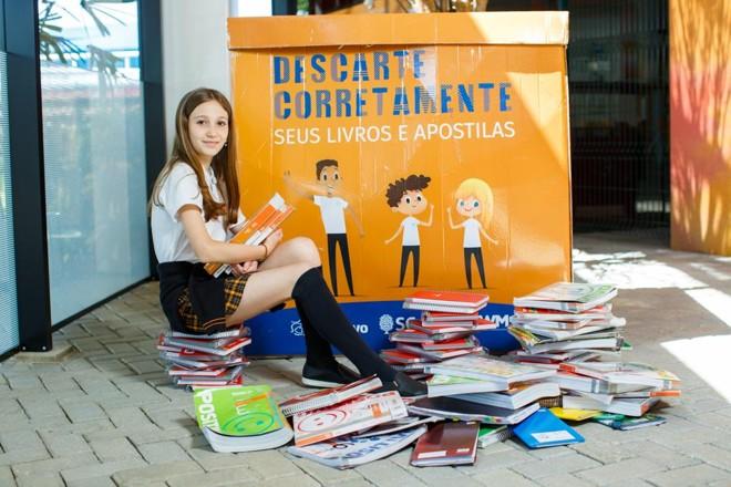 Helena Giotto sugeriu um programa de reciclagem de materiais didáticos usados e rabiscados. | Diego Wladyka /Divulgação