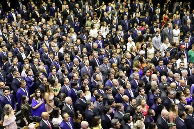 Cerimônia de posse na Câmara dos Deputados, na manhã desta sexta-feira (1). | Luis Macedo/Câmara dos Deputados/Luis Macedo/Câmara dos Deputados