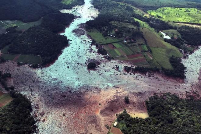 Rastro da lama da barragem de Brumadinho. | PR / Fotos Públicas