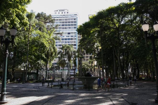Praça Osório poderá ter evento gastronômico. | Cassiano Rosario/Gazeta do Povo