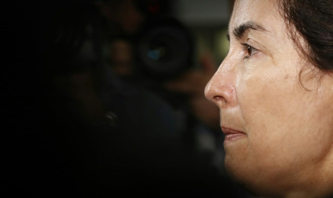 Eliana Aparecida Corrêa Freitas teve de ficar frente a frente com o assassino confesso de seu filho | Jonathan Campos/Gazeta do Povo