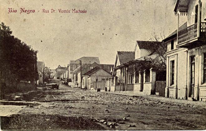 Município de Rio Negro, nos anos 1910, era um dos poucos que tinham alguma  infraestrutura no estado. | /Acervo Mudeu Paranaense
