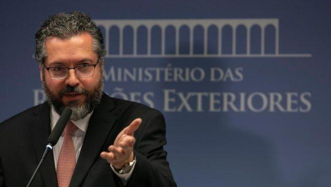 O ministro das Relações Exteriores, Ernesto Araújo. Foto: Sergio Lima / AFP