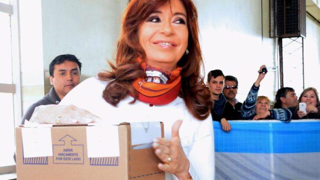 Cristina Kirchner era um nos principais nomes na corrida presidencial argentina. Foto: Presidência da Argentina via Reuters