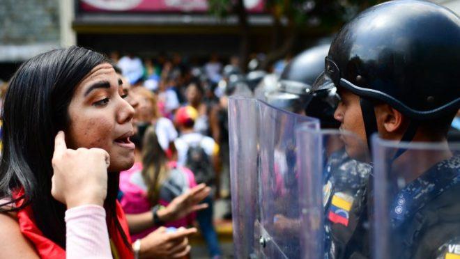 Protesto anti-Maduro na Venezuela
