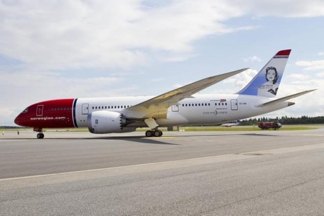 Boeing 787 Dreamliner é um dos aviões usados pela companhia low-cost Norwegian, que começou a operar no Brasil. | Norwegian Air UK/Divulgação