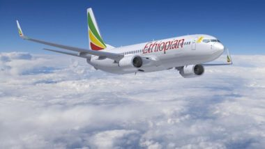 Foto de um Boeing 737 da Ethiopian, do mesmo modelo que caiu. Foto: AFP