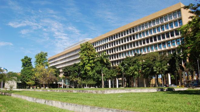 Edifício administrativo da UFRJ | Foto: Divulgação.