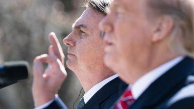 Presidente do Brasil, Jair Bolsonaro, e presidente dos EUA, Donald Trump