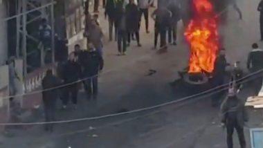 Protesto de palestinos contra o Hamas na Faixa de Gaza