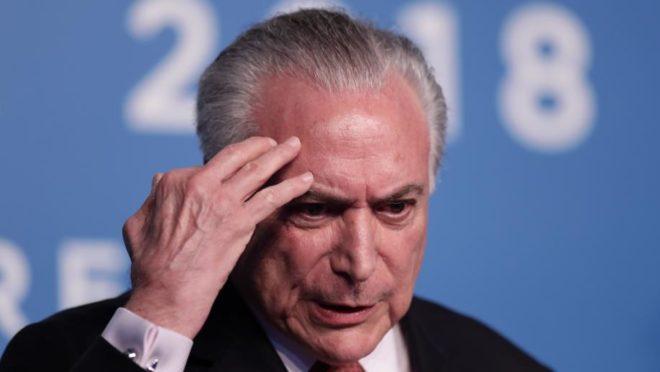 Ex-presidente do Brasil Michel Temer. Foto: Alejandro Pagni/AFP