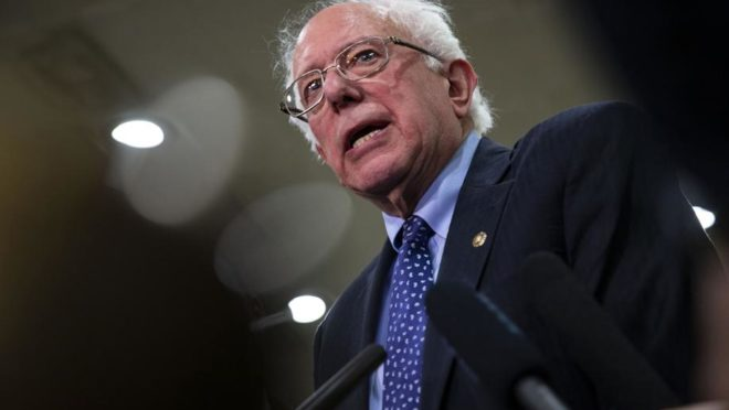 O candidato democrata Bernie Sanders