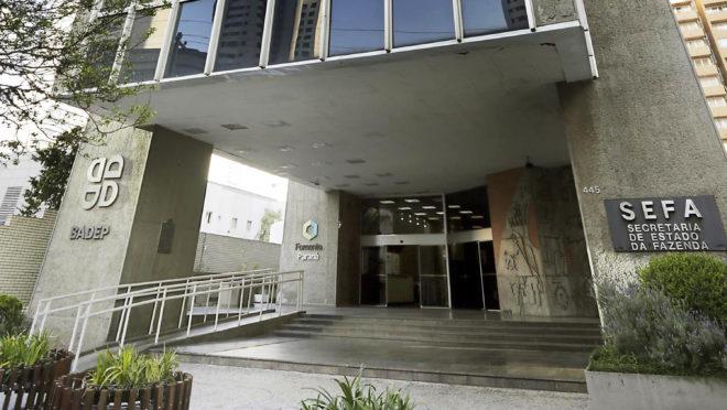 O prédio da Secretaria da Fazenda do Paraná. Foto: Julio César da Costa Souza/SEFA