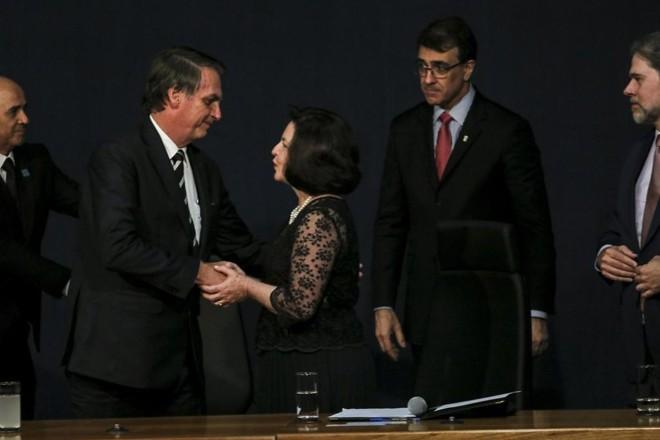 Presidente Jair Bolsonar será responsável pela indicação que determina o novo procurador-geral da República, a PGR.Raquel Dodge, atual procuradora-geral, é um dos nomes cotados, mas não está entre os favoritos. | Wilson Dias/Agência Brasil