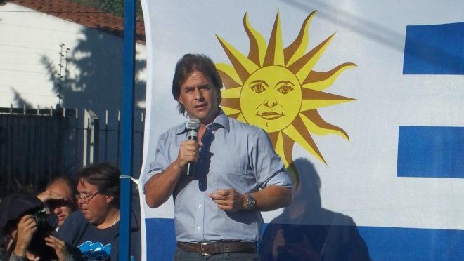 Luis Lacalle Pou, do Partido Nacional, um dos favoritos à presidência no Uruguai