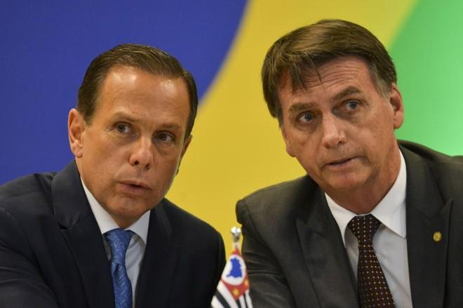 João Doria, governador de SP, e Jair Bolsonaro. | Marcelo Camargo/Agência Brasil