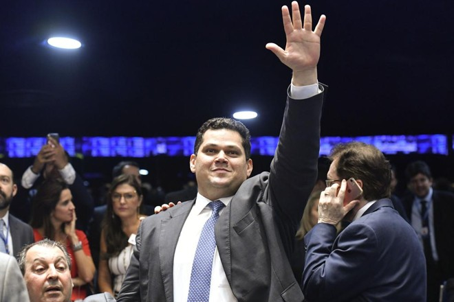 Presidente do Senado, Davi Alcolumbre (DEM-AP)   Pedro França/Agência Senado