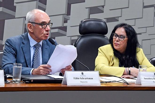 Presidente afastado da Vale, Fabio Schvartsman , durante depoimento na CPIde Brumadinho no Senado. | Edilson Rodrigues/Agência Senado