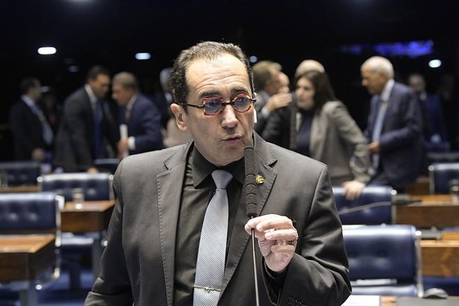 Jorge Kajuru questionou de onde vem o patrimônio de Gilmar Mendes. | Roque de Sá/Agência Senado