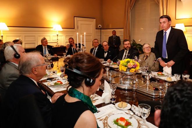 Bolsonaro discursa durante jantar em Washington | Alan Santos/PR