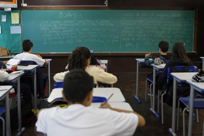 Na primeira edição, 600 mil alunos farão o teste.   Jonathan Campos/Gazeta do Povo