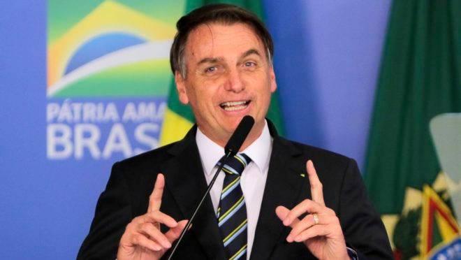 O  presidente Jair Bolsonaro, participa da solenidade de assinatura da medida provisória da liberdade econômica.
