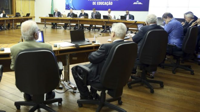 Reunião do Conselho Nacional de Educação (CNE). Foto: Antonio Cruz | Agência Brasil.