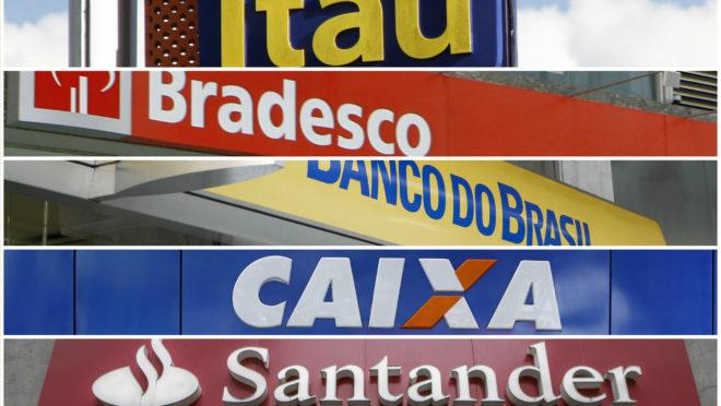 logomarcas de vários bancos