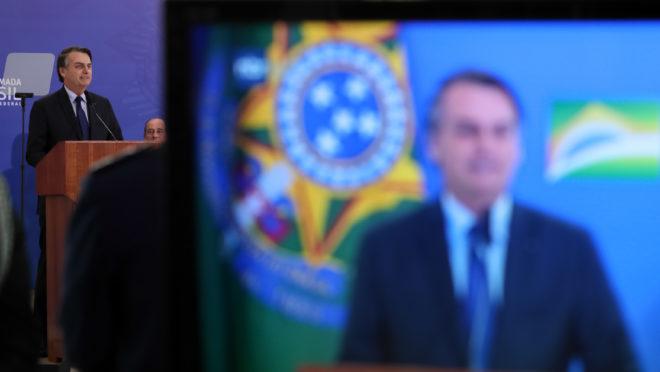 (Brasília - DF, 05/04/2019) Palavras do Presidente da República, Jair Bolsonaro. Foto: Marcos Corrêa/PR