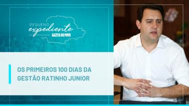 O governador Ratinho Junior em seu gabinete, no Palácio Iguaçu