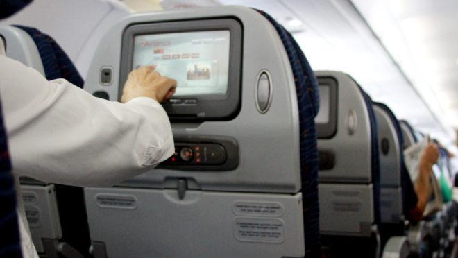 Interior de avião da Avianca