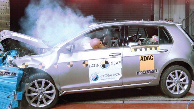 O crash test do Latin NCAP é realizado no Brasil desde 2010. Foto: Latin NCAP/ Divulgação