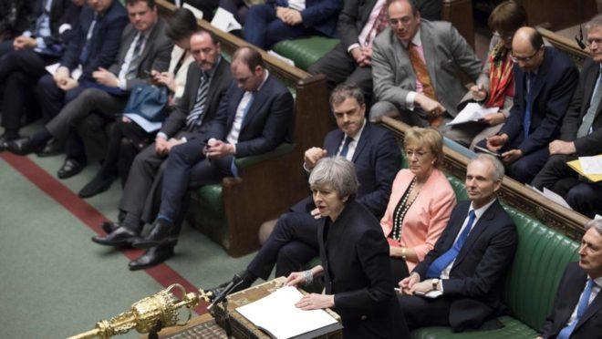 A Casa dos Comuns do Parlamento britânico. Foto: AFP PHOTO /JESSICA TAYLOR/ UK Parliament