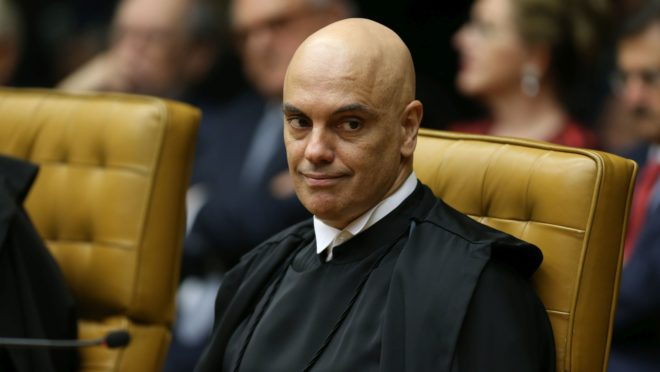 O ministro Alexandre de Moraes