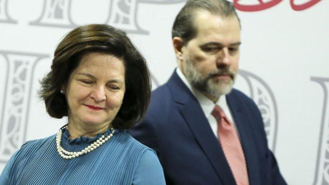 A procuradora-geral Raquel Dodge e ministro Dias Toffoli, presidente do STF. Foto: Marcelo Camargo/Agência Brasil