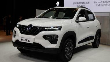 O Renault City K-ZE possui o mesmo tamanho do Kwid convencional e pode chegar ao Brasil no futuro. Foto: Newspress/ Divulgação