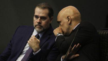 O presidente do Supremo Tribunal Federal (STF), Dias Toffoli, e o ministro do STF Alexandre de Moraes.