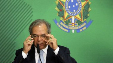 O ministro da Economia, Paulo Guedes, durante entrevista coletiva no Palácio do Planalto. (Foto: Valter Campanato/ABr)