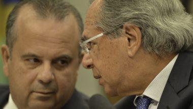 O secretário da Previdência, Rogério Marinho, e o ministro da Economia, Paulo Guedes, na Comissão de Constituição e Justiça (CCJ) da Câmara, debate a reforma da Previdência (PEC 6/19).