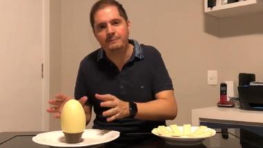 O secretário especial adjunto de Previdência e Trabalho, Bruno Bianco: em vídeo feito em casa, ele usou ovo de páscoa e tabletes de chocolate para mostrar a relação entre trabalhadores e aposentados no país.