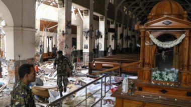 Igreja de Santo Antônio, em Colombo, destruída após a explosão.  Foto: Ishara S. Kodikara/AFP.