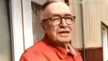 Olavo de Carvalho, no vídeo com críticas aos militares compartilhado e apagado por Bolsonaro.