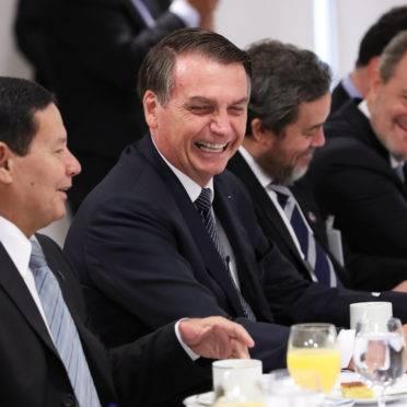 (Brasília – DF, 25/04/2019) Presidente da República, Jair Bolsonaro durante Café da Manhã com Jornalistas. Foto: Marcos Corrêa/PR