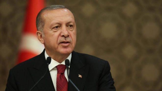 O presidente da Turquia, Recep Tayyip Erdogan, no palácio presidencial em Ancara, Turquia, em julho de 2018. Foto: Arif Akdogan / Bloomberg