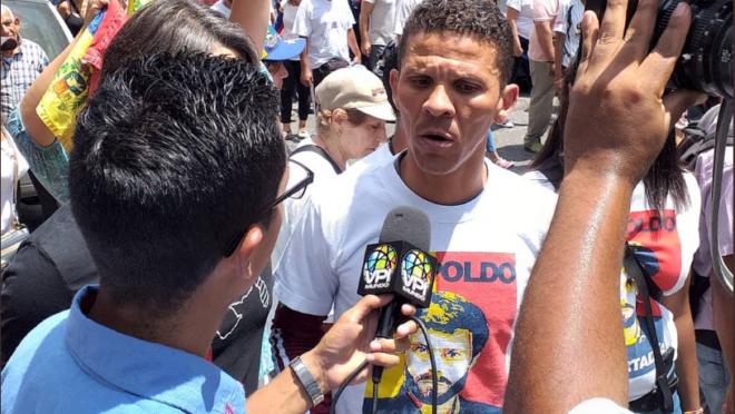 Gilber Caro, deputado venezuelano da oposição, detido pelo Sebin | Foto: Reprodução/Twitter