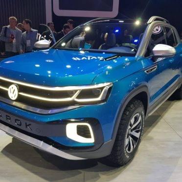 A Volkswagen Tarok foi apresentada em forma de conceito no Salão de São Paulo 2018. Foto: Renyere Trovão/ Gazeta do Povo
