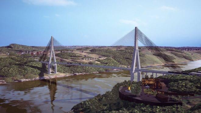Simulação da nova ponte.