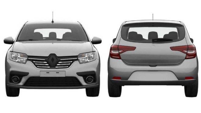 Esboços encaminhados ao INPI pela Renault para o registro de patente do novo modelo. Foto: INPI/ Internet