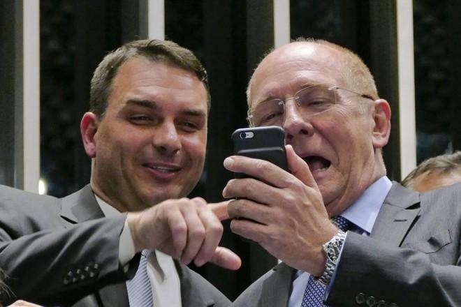 Flávio Bolsonaro, filho do presidente Jair Bolsonaro. | Roque de Sá/Agência Senado