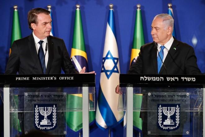 Bolsonaro e Netanyahu, primeiro-ministro de Israel. | Alan Santos/PR